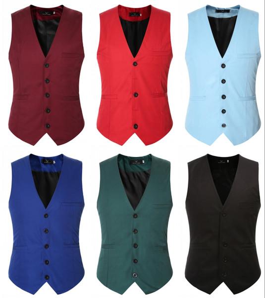 New And Fine Cool Single Breasted Vests British Style Suitable For Men Wedding / Dance / Dinner Best Men Vest Large-Size Men Jacket