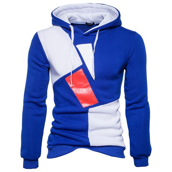Mode Hot Patchwork Top Hommes Hoodies Hommes Charactrist Hoodie Casual Hommes Sportwear Hoodies Automne Hiver Manteau