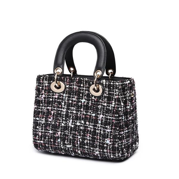2019 high quality pu female bag fashion plaid ladies shoulder bag casual Messenger bag handbag