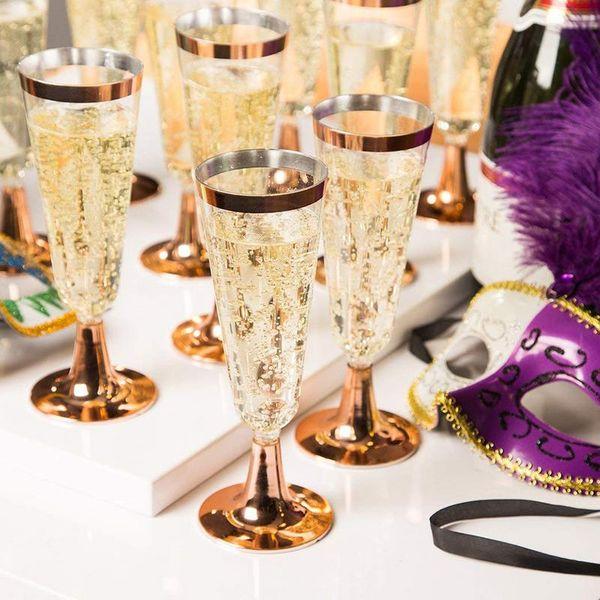 Tek kullanımlık plastik Kırmızı Şarap Cam Düğün Kızartma şampanya flüt gözlük Kupa Parti evlilik Şarap dekorasyon İçecek