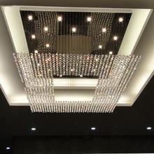 Neue moderne Europa-Schnur großer Kristall Hochwertige helle Leuchterhotellobby-Leuchterbeleuchtung L1000xW1000xH1500mm