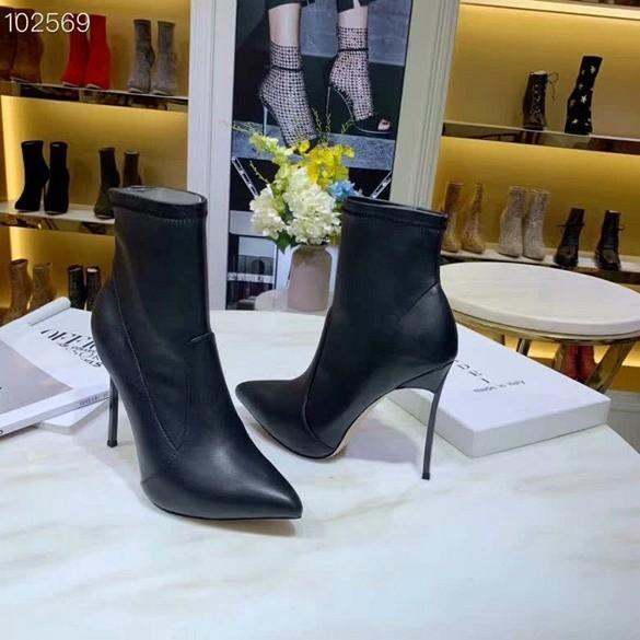 New fall and winter casual shoes Import top genuine Reflective leather fashionable ladies Luxury Designer High heel boots