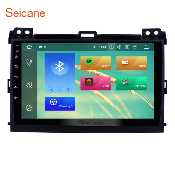 9 Inch Android 8.1 Car GPS Navigation for 2002-2009 Toyota Prado Cruiser 120 with WiFi Bluetooth Mirror Link support 3G OBD2 car dvd