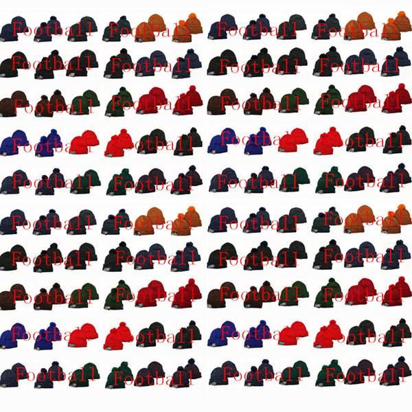 Vendita calda! Inverno Cotton Cap nuovi tutti i cappelli del team American City Berretti Hip Hop Stampato protezioni registrabili di sport cappelli lavorati a maglia 32T + Styles