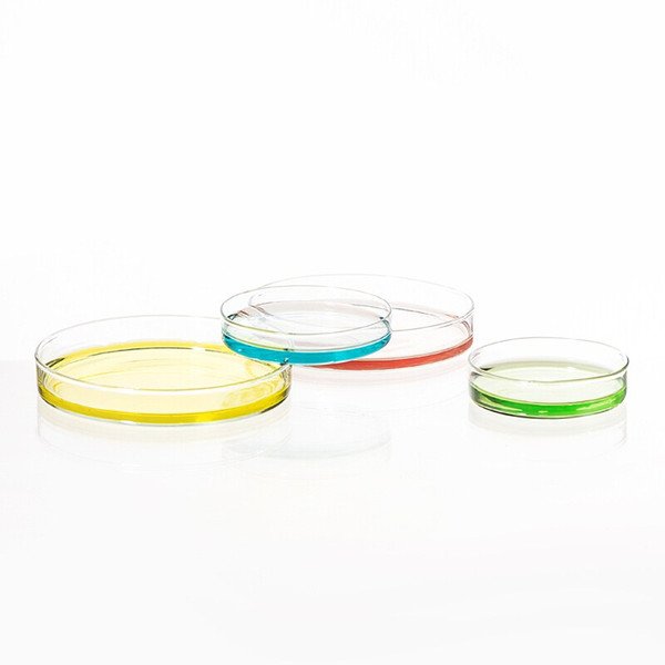 best selling 1Package 5Pcs Glass Petri Dish 90mm Borosilicate Glass Petri Dish for Chemical Laboratory Bacteria Yeast Tissue Culture