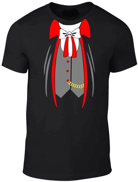 Herren-Vampir-Anzugs-T-Shirt - Dracula Halloween-Kostüm-Ausstattungs-Abendkleid-Shirt mit Top-Qualität-T-Shirt