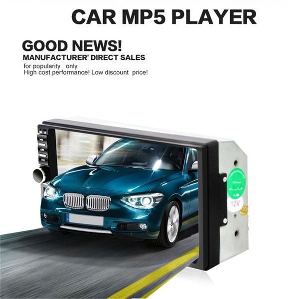 Car Video Player 7 Inch Audio Stereo MP5 Player Bluetooth Audio Car Radio FM Bluetooth USB Support for SD/MMC 7018B