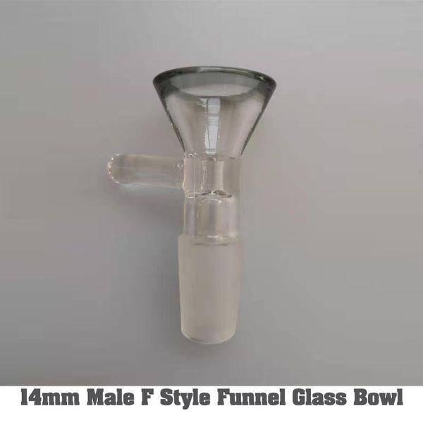 conduite d'eau de la cuve de verre bol 9 style de 14mm Homme verre Entonnoir bong Bowl yy chaud popupar