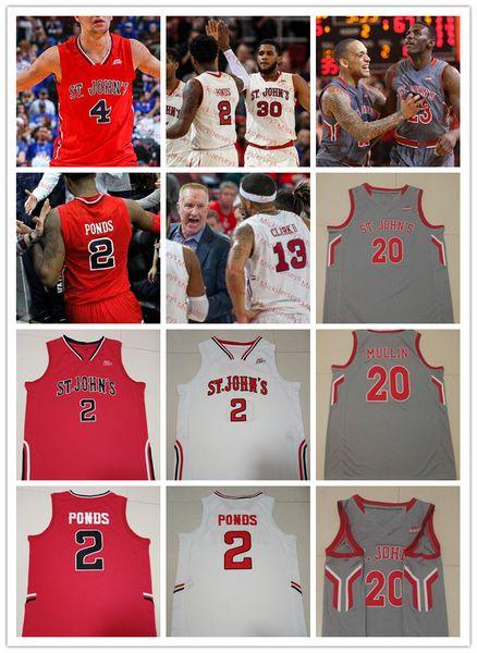 Custom NCAA St. John's Red Storm Baloncesto Jersey Mustapha Heron Shamorie Ponds LJ Figueroa David Caraher Justin Cole Chris Mullin Jersey