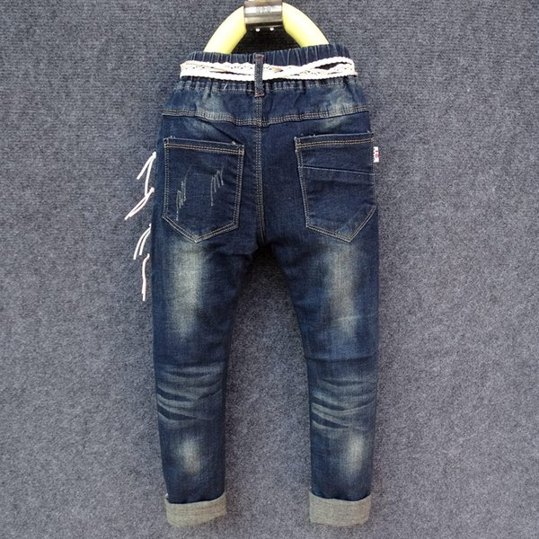 IENENS Fashion Girls Skinny Jeans Pencil Pants Young Children Denim Long Pants Kids Baby Girl Slim Boot Cut Trousers