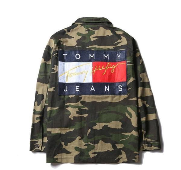 청소년 카모 청바지 재킷 후드 미국 스타일 패션 남성 '; ; S 스케이트 보드 후드 티셔츠 데님 캐주얼 재킷 여성의 엉덩이 -ho