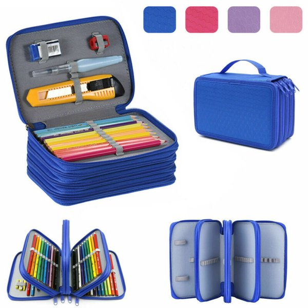 New School Pencil Cases For Girls Boy Pencilcase 72 Holes Pen Box Penalty Multifunction Storage Bag Case Pouch Stationery Kit