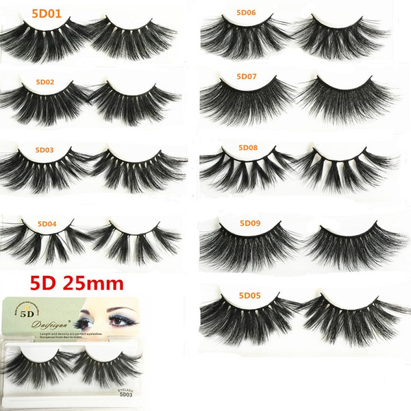 5d faux mink la he 25mm long natural fal e eyela he volumn fake eye la he for beauty thick 25mm full trip la he
