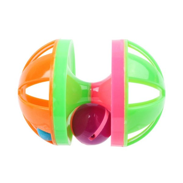 Squeaky Tease Cat Toys Rolling Ball Double Bell Ball for Pets Supplies Exercise Entertainment Pet toys Environment Friendly ABS