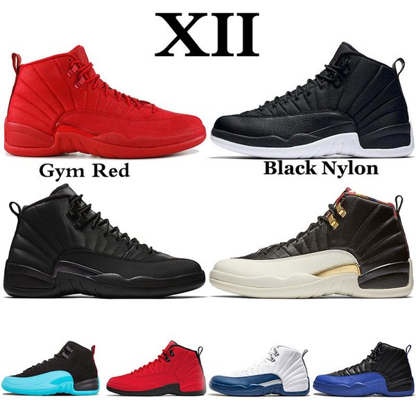 CNY 12 12s Wntr Gym Red XII Game Royal Black Mens Shoes PRM Playoff The Master 12s Designer Shoes Sport Sneakers Trainers 7-13