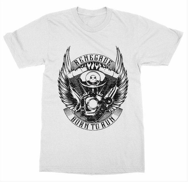 Renegade T-Shirt Ride or Die Vintage Motorcycle Club Gear Race Bike Shop WingFunny free shipping Unisex Casual Tshirt