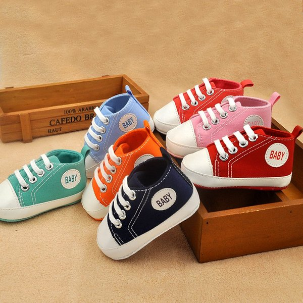 Autumn Canvas Classic Sports Sneakers Baby Boys Girls First Walkers Shoes Infant Toddler Soft Sole Anti-slip Baby Shoes