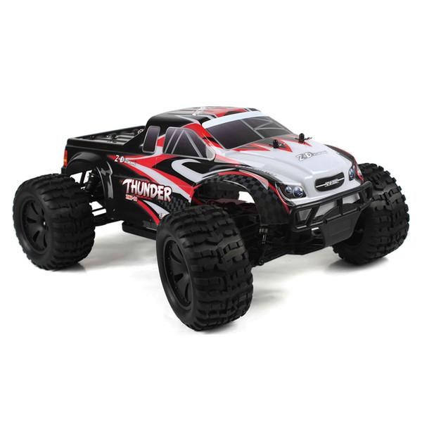 10427 - S 1:10 Big Foot RC Toy RTR 2.4GHz 4WD / Splashproof 45A ESC / 3.5kg High-Torque Servo RC Cars Remote Control Toys