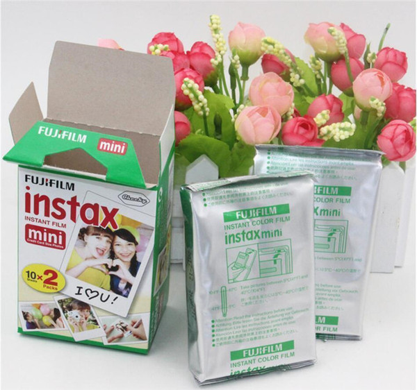 Most popular 20 Sheet box fujifilm instax mini 8 film 20 sheets for camera Instax mini 7s 25 50s 90 Photo Paper White Edge 3 inch wide film