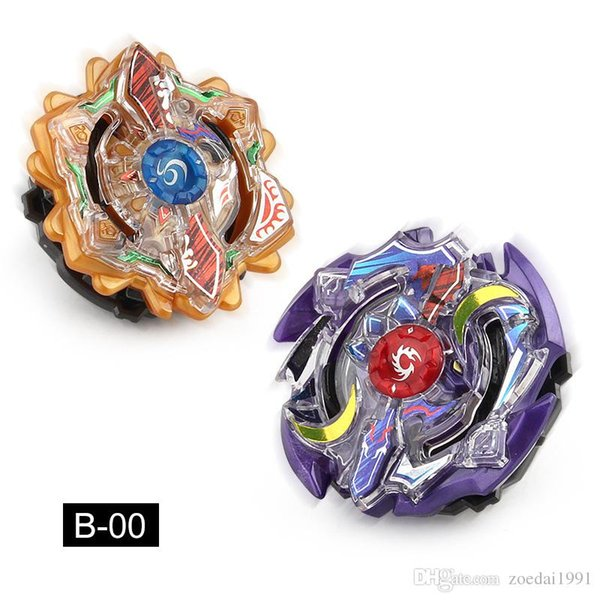 top popular 2 IN 1 DIY Beyblade Burst B-00 Spinning Top kids toys Bayblade Sun and moon double eclipse 2019