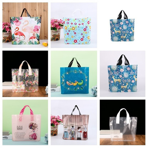 Holiday gift special hand-held thickened gift bags shopping bags 50 festive party gift Packing bag new T3I5118