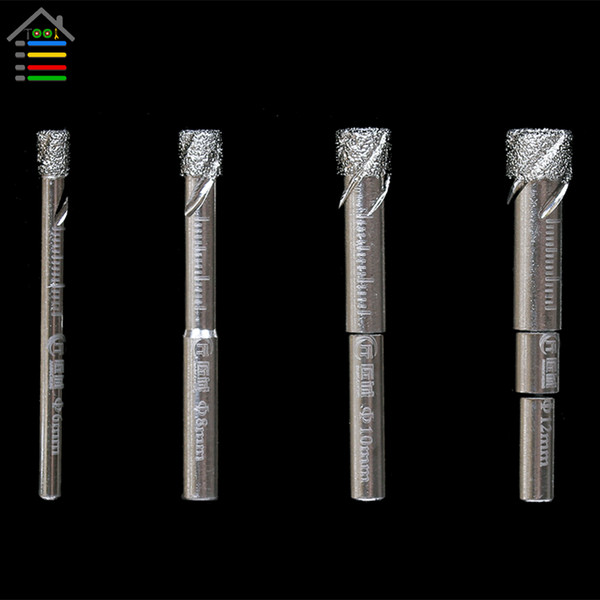 Tools Drill Bit AUTOTOOLHOME 6 8 10 12 mm Durable Diamond Coated Core Drill Bit Dry Drilling for Glass Marble Granite Quartz