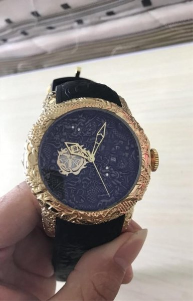 IN OROLOGIO Diamond Dragon Style orologio da polso al quarzo in oro rosa F1 Datejust orologio in gomma spedizione gratuita