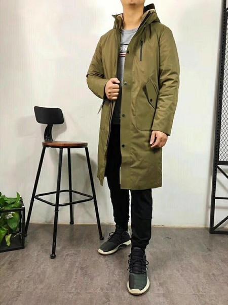 Sobretudo Inverno Homens Mulheres Feather Jacket Jacket longo Casacos estilo de negócio quente na moda le Duck Down n Inverno 54970 Brasão