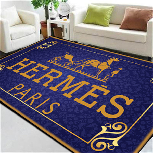 Impressão azul Cavalo Impressão Tapetes Tamanho Grande Novo Custom Made Tapete Logotipo Popular Tapete Letra Retângulo Footcloth