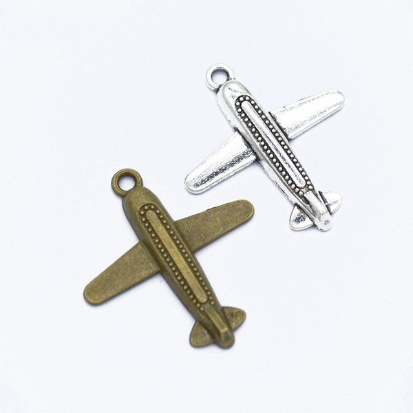 Bulk 120pcs/lot 35*32MM AirPlane Charms - Vacation Travel Charms Pendants - Jewelry Making Findings DIY craft - Scrapbooking