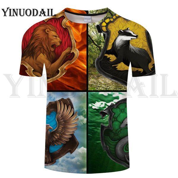 Fãs Vestem 2019 Verão Potter Série Camisetas Homens Impressão de Manga Curta O Pescoço T Camisa