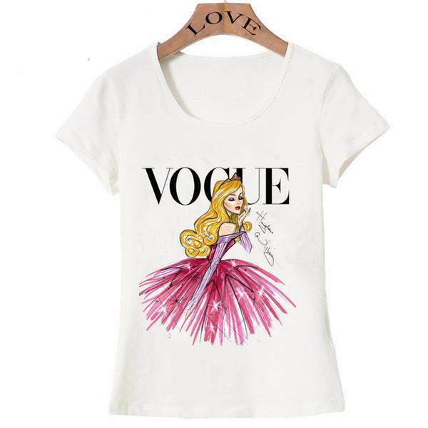 VOGUE punk prenses baskı T Gömlek 2016 yaz moda kadın t-shirt komik Harajuku kısa kollu casual tees lovrly tops