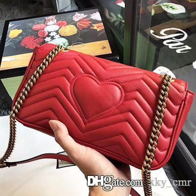 Marmont cowhide leather handbags women famous brands shoulder bag designer luxury handbags purses chain fashion crossbody bag