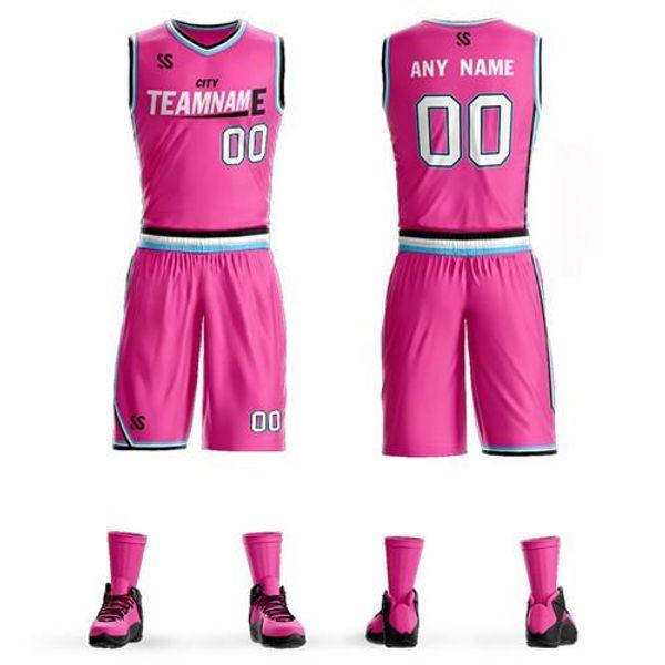 Personalizza le maglie da basket per bambini Adulti College Basketball Maglie maglie sportive set da basket vestiti economici spedizione gratuita