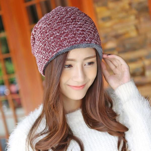 Women Winter Warm Cap Crochet Knit Knitted Beanie Hat women's winter keep warm outdoor sports running hiking caps hats