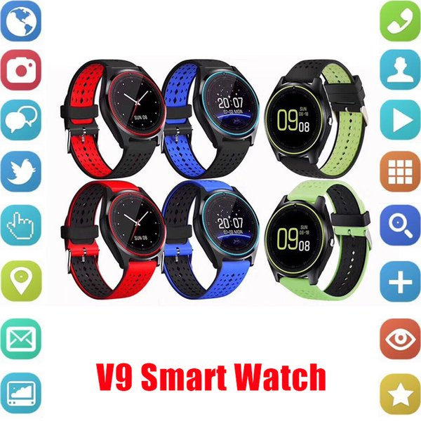 V9 smartwatch android V8 DZ09 U8 samsung smart watches SIM Intelligent mobile phone watch can record the sleep state Smart watch free DHL.