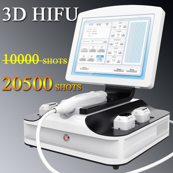 Factory price hifu face lift skin care anti-wrinkle portable hifu machine 8 cartridges Salon or home use 20,500 shots