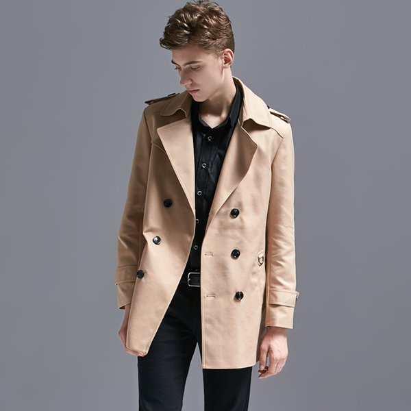 Minglu Trench Coat Men Plus Size 6xl Turn-down Collar Double Breasted Mens Coats And Jackets Fashion Overcoat Male Coat Long