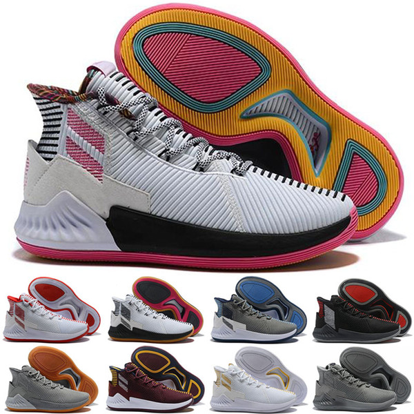 2019 D Rose 9 White Gold Men's Basketball Shoes Man Top Quality Derrick Rose shoes 9 Sports Sneakers designer shoes