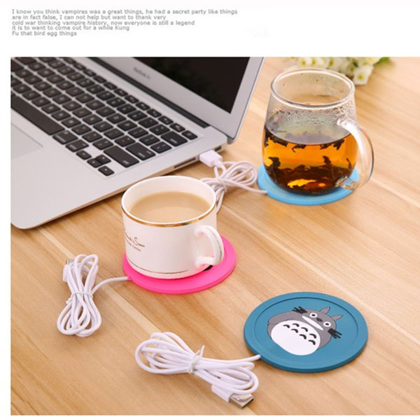 USB Warmer Gadget Cartoon Silicone thin Cup-Pad Coffee Drink usb Heater Tray Mug Pad nice Gift