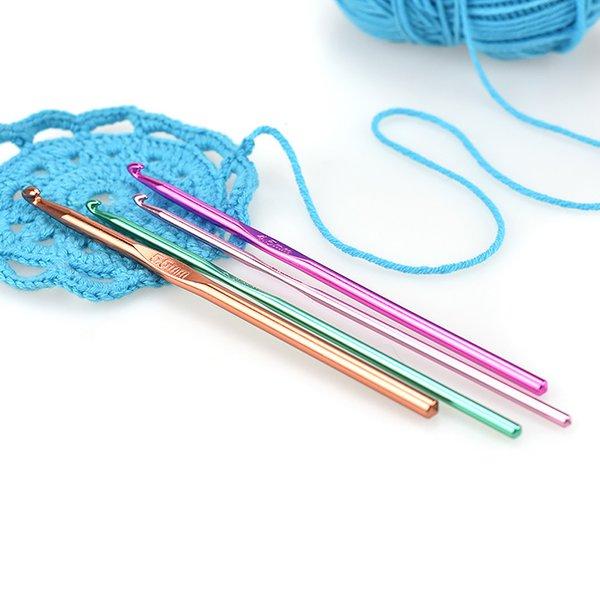 IY Apparel & Fabric Sewing Needles Aluminum Crochet Hooks Multicolor Mixed 2-10mm Knitting Needles DIY Craft Yarn Sewing Needle For ...