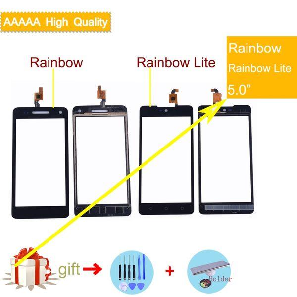 10 шт. / лот сенсорный экран для Wiko Rainbow Lite Rainbow Jam 3G 4G сенсорная панель сенсорный экран Digitizer стекло датчик для wiko rainbow