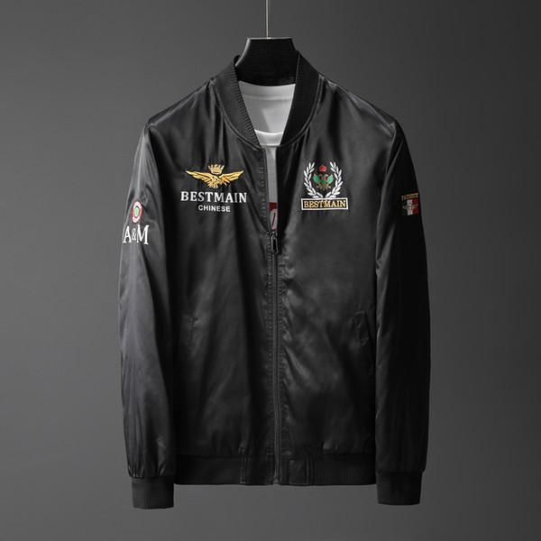 Novos homens jaqueta com zíper masculino casual streetwear casaco de hip hop roupas masculinas 19350