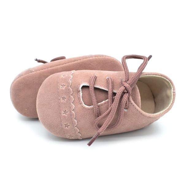 Cute Solid PU Baby First Walkers Antislip Prewalkers Infant Girl Shoes