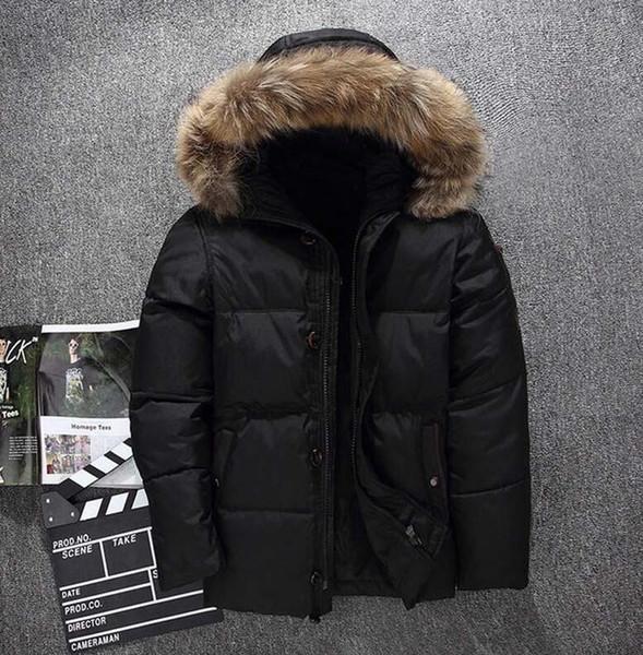 Wholesale Men Casual Down Jacket MAYA Down Coats Mens Outdoor Fur Collar Warm Feather dress Winter Coat outwear outer wear JACKETS