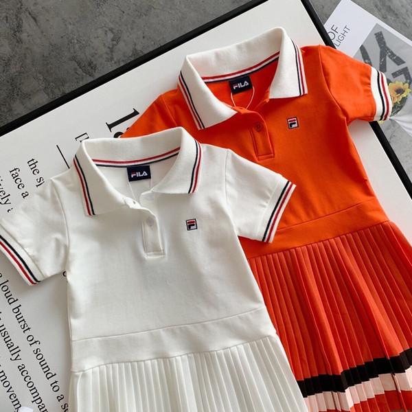 Ropa para niños bebés Moda para niñas 2019 Vestido de rayas Vestido de verano en encaje Princesa Falda Dividir conjuntos de prendas de vestir infantiles 0622