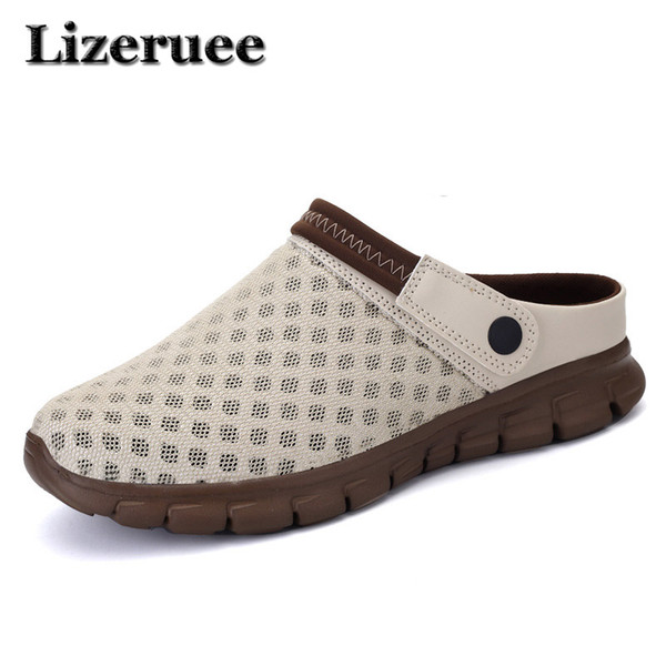 men soft slippers summer lovers gradient large size sandals breathable upstream shoe with drain hole quick drying loafer me426