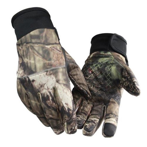 Hot Sale Fishing Gloves Anti-Slip Winter Warmth Touch Screen Hunting Camouflage Outdoor Sport Fishing Equipment Ful-Finger