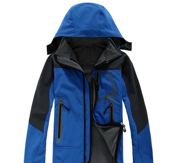 Los hombres s de invierno al aire libre sudaderas chaquetas de los SoftShell Apex Bionic impermeable a prueba de viento térmico para que va de excursión de esquí hacia abajo de deporte S-XXL