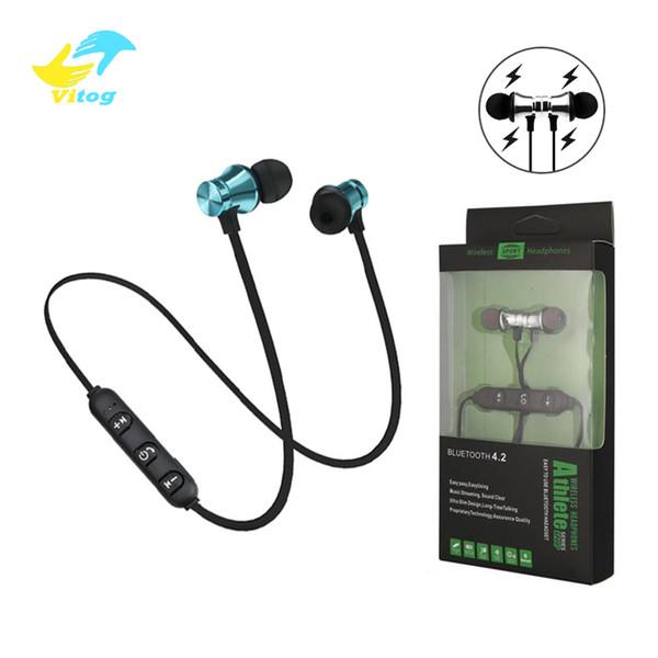 XT11 Auriculares inalámbricos Bluetooth Magnéticos Inalámbricos Correr Deporte Auriculares Auriculares BT 4.2 con micrófono MP3 Auriculares para iPhone LG Smartphones